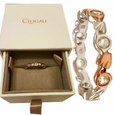 Clogau Ring Size KLNOR Topaz Welsh Silver 9ct Rose Gold Tree of Life Eternity