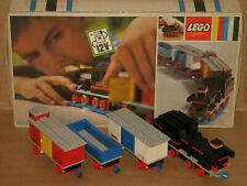 LEGO 720 ~ Train with 12V Electric Motor + OVP ~ 1969 ~ Dampflok mit 3 Waggons