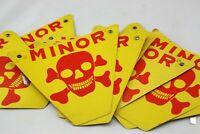 Mine Field waxed cartoon sign Mines MINOR metal fastening DECOR Halloween EUROPE