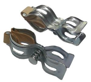 1 Paar Luftpumpenhalter Pumpenhalter Fahrrad f. Rahmenpumpe m. Ledereinsatz
