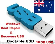 Windows Boot Repair and Recovery USB , Bootable 16GB flash memory