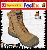 "NEW Mongrel Work Boots ZIP Side Steel Toe/ Safety 9"" High Leg Scuff Cap 451050"