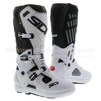 Sidi Atojo SRS MX Motorcycle Offroad Boots, Black White, Fast 'n Free Shipping
