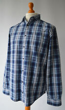 Men's Blue Checked Tommy Hilfiger New York Fit Long Sleeved Shirt Size XL.