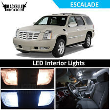 White LED Interior Lights Accessories Package Kit fits 2007-2014 Escalade 10 PCS