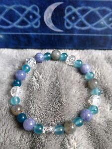Guardian angel bracelet crystal healing angelite apatite labradorite