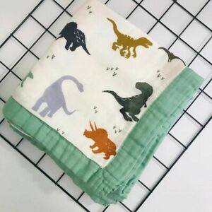 Muslin Quilt Four Layer Bamboo Muslin Blanket Baby Swaddle Blanket Infant Wrap