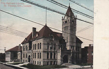 ST. THOMAS , Ontario , Canada, 1909 ; City Hall & lIbrary