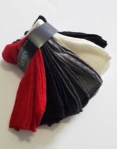 Lauren Ralph Lauren Womens Cable Texture Trouser Socks 6 Pk Red Asst - New