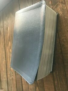 BLUE BONDED LEATHER LDS QUAD SCRIPTURES MORMON VERY GOOD NO MARKINGS