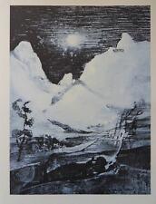 Jean JACUS - Norvège Paysage glacé  - gravure signée #322ex + justificatif