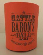 New Vtg 2004 Cattle Baron's Ball Orange Foam Koolie Can Holder Koozie Coozie