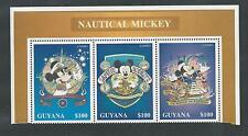 GUYANA # 3092 A-C MNH DISNEY, NAUTICAL MICKEY, STRIP OF THREE (3)