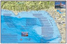 L.A. County Surfing Map Laminated Surfing Guide Poster by Franko Maps