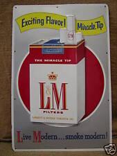 Vintage L & M Cigarette Tin Sign > Antique Signs Iowa