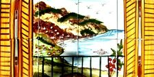 DECORATIVE CERAMIC TILES: HAND PAINTED MOSAIC KITCHEN BATH PATIO POOL WALL MURAL