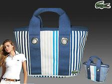 Vintage LACOSTE Ladies Mini Tote Handbag Bag Summer 1 Blue AUTHENTIC NWT