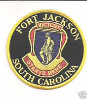 ARMY FORT JACKSON VICTORY STARTS HERE EMBROIDERED PATCH