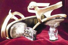 Lucite High Heel Shoes Lady's Figure Geena Size 7 Rhinestone Vinyl Upper Figural