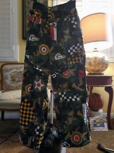 Quicksilver Double Baggy Pants Effect Snowboard Pants Men Size XL
