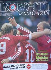 Programm 1986/87 FC Bayern München - Werder Bremen