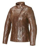 GENUINE TRIUMPH LADIES LEATHER BARBOUR MOTORCYCLE JACKET SIZE MEDIUM MLLS 17106