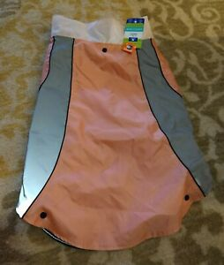 Top-Paw 3-in-1 Fleece Lined Water Resistant Shell Rain Jacket XX Large Pink/Grey