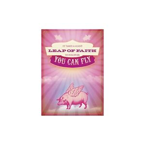 Leap of Faith Encouragement Greeting Card & Envelope by Tree Free