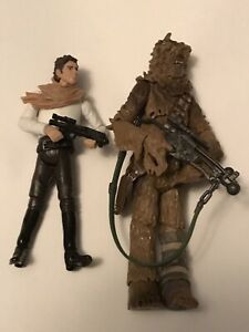 Lot of 2 Star Wars Action Figures: Han Solo & Chewbacca  Unique/Rare!!