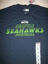 NFL Seattle Seahawks Football Navy T-Shirt Mens Large New with Tags
