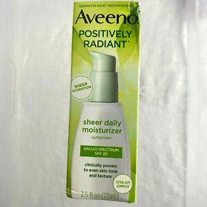 Aveeno Positively Radiant Sheer Daily Moisturizer SPF 30 2.5 FLOZ Soy Complex