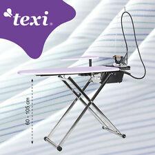 TEXI Table de Repassage - aspiration et soufflante - chaudiere et  fer - 1,1 L