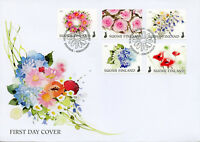 Finland 2018 FDC Flowers of Happiness Roses 5v S/A Cover Nature Flora Stamps