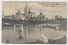 Bruxelles Exhibition 1910 postcard - Les Jardins Francais - P/U 1910