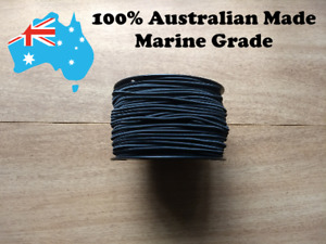 3mm Shock cord / Bungee Cord Black or White 100% AUSTRALIAN MADE Various Lengths