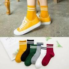 Women Cotton Striped Socks Soft Cute Solid Short Sport Casual Hosiery Socks 2019