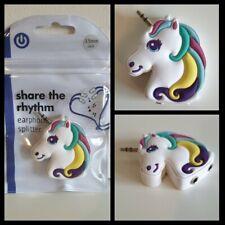 Earphone Splitter Unicorn Travel Essentials 3.5mm double earphone adapter