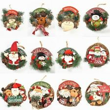 2020 Christmas Wreath Decor For Xmas Party Door Wall Hanging Garland Ornament
