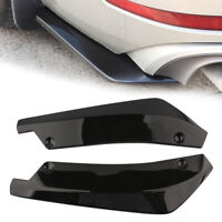 2pcs Car Rear Bumper Spoiler Canard Anti-crash Diffuser Angle Splitter Protector