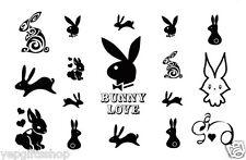 Elegant Temporary Tattoos, Finger, Shoulder, Arm Tattoo - Rabbits