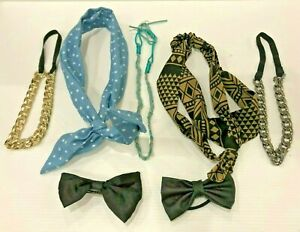 Mixed Hair Accessories Hairband Plaited Blue Gold Silver Bows Hair Ties Blue