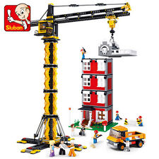 Sluban B0555 Engineering Series Tower crane Figure Building Blocks Toys block