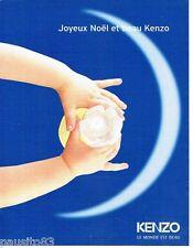 PUBLICITE ADVERTISING 106  1998  le parfum le monde est beau Noel par Kenzo