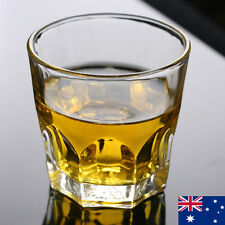 6x Glass Cups Clear Mug Set Thermo Drinking Bar Beer Whiskey Tumbler Party