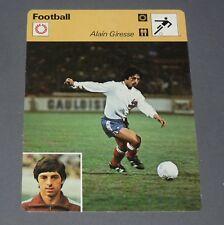 FICHE FOOTBALL 1978 ALAIN GIRESSE FRANCE BLEUS GIRONDINS BORDEAUX