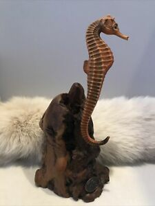 SEAHORSE PREGNANT Sculpture Male by JOHN PERRY 7in New direct from his studio