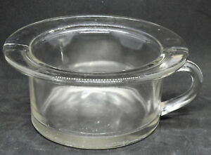 Vintage Glass Childs Handled Small Chamber Pot