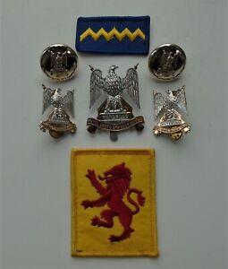 Royal Scots Dragoon Guards Cap/Collar RSDG CO's Tank Crew Badges/Buttons & TRF