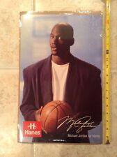 "Michael Jordan 11x17"" Original Hanes Ad Basketball Chicago Bulls 23 HOF Legend"