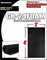 """DJ Speaker Woofer Cabinet Grill Foam 2' Wide x 4'Long x 3/8"""" Thick Black"""